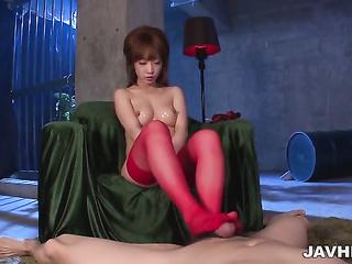 asian japanese stocking footjob