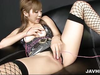 japanese fishnet masturbation