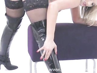 beautiful leather boots
