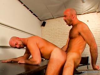 bald guys anal games