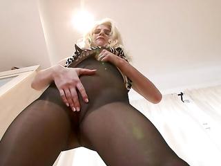 black pantyhose masturbation