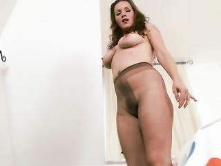 mature brunette saggy tits